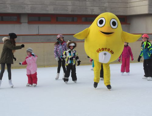 Ugotchi lernt Eislaufen – Kurse in den Semesterferien