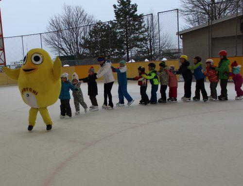 Ugotchi lernte Eislaufen