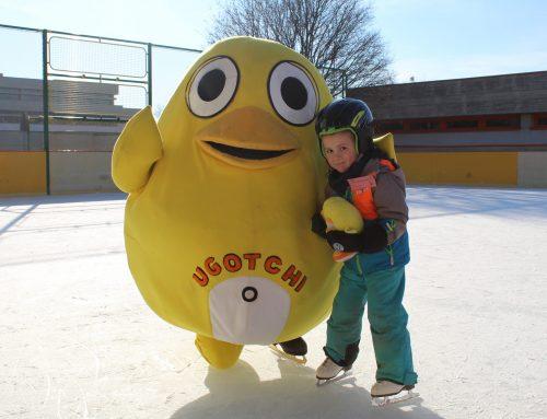 Ugotchi lernt Eislaufen – Eislaufkurse in den Weihnachtsferien sind möglich!